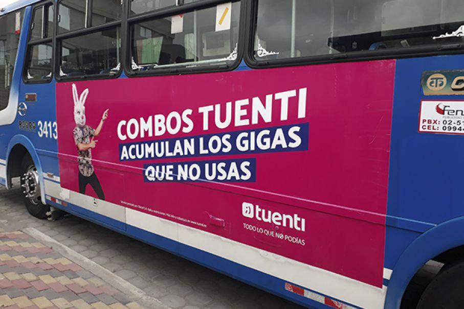 Publicidad Vallas en Buses Quito