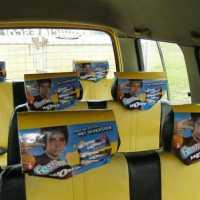 Publicidad en cabeceras en expresos escolares